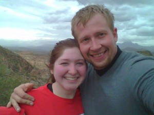 Russ and me after hiking in Phoenix